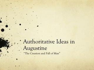 Authoritative Ideas in Augustine