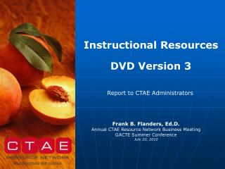 Instructional Resources DVD Version 3