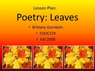 Poetry: Leaves