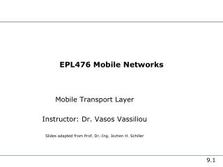 EPL476 Mobile Networks