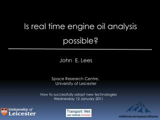 Is real time engine oil analysis  possible?