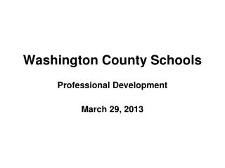 Washington County Schools