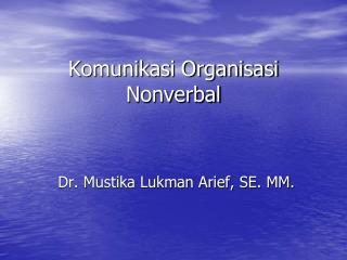 Komunikasi Organisasi Nonverbal