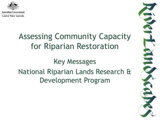 Assessing Community Capacity for Riparian Restoration