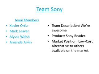 Team Sony