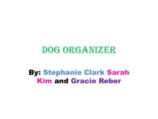Dog organizer