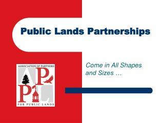 Public Lands Partnerships