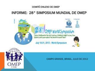INFORME:  28° SIMPOSIUM MUNDIAL DE OMEP