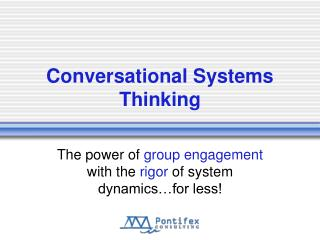 Conversational Systems Thinking