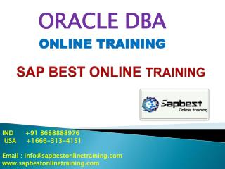 ORACLE DBA ONLINE TRAINING | ORACLE DBA Project Support | OR