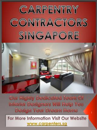Carpentry Services Singapore