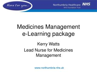 Medicines Management  e-Learning package