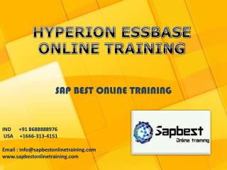 HYPERION ESSBASE ONLINE TRAINING | HYPERION ESSBASE Project