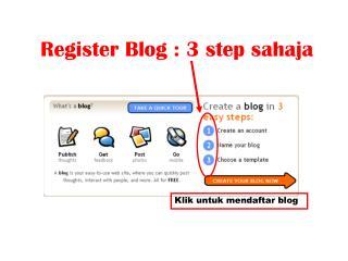 Klik untuk mendaftar blog