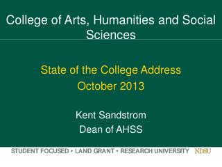 College of Arts, Humanities and Social Sciences