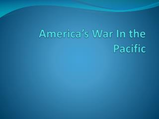 America's War In the Pacific