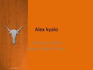 Alex kyalo