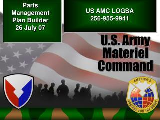 Parts Management Plan Builder  26 July 07