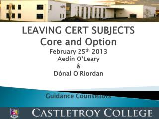 SEVEN  LEAVING CERT SUBJECTS