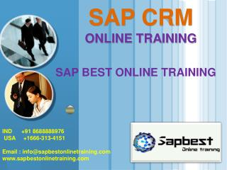 CRM ONLINE TRAINING | CRM Project Support | CRM Certificatio
