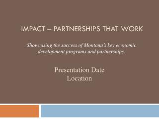IMPACT – Partnerships that work