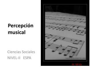 Percepci�n musical