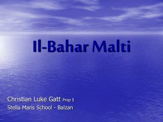 Il- Bahar Malti