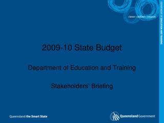 2009-10 State Budget
