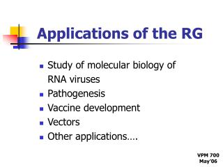 Applications of the RG