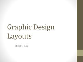 Graphic Design Layouts