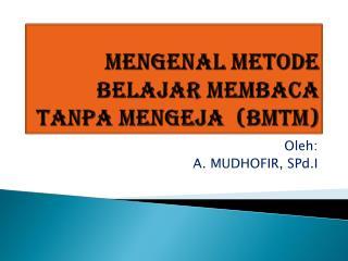 Mengenal Metode belajar membaca tanpa mengeja  (BMTM)