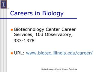 Careers in Biology