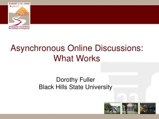 Asynchronous Online Discussions: What Works