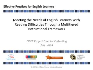OSEP Project Directors' Meeting July  2014