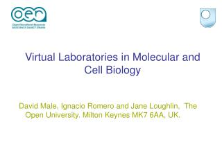 Virtual Laboratories in Molecular and Cell Biology