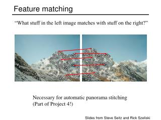 Feature matching
