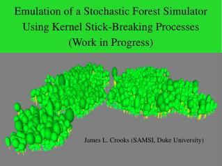 James L. Crooks (SAMSI, Duke University)