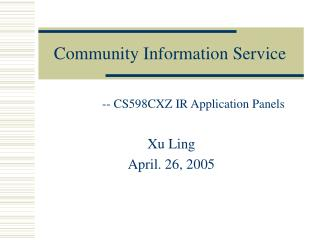 Community Information Service