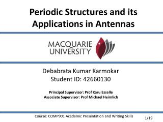 Periodic Structures and its Applications in Antennas