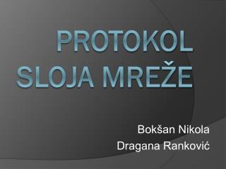 Protokol sloja mreže