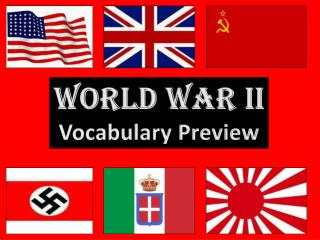 World War II Vocabulary Preview