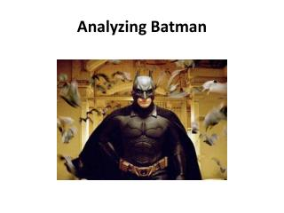 Analyzing Batman