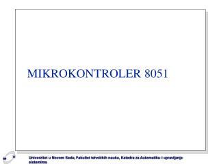 MIKROKONTROLER 8051