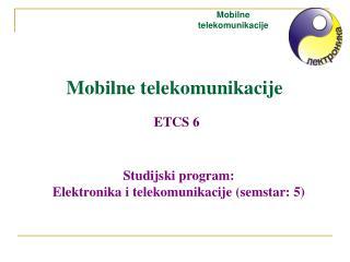 Mobilne telekomunikacije