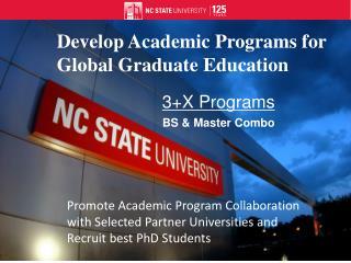 3+X Programs BS & Master Combo