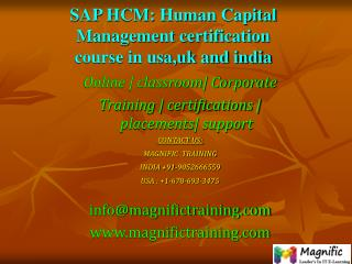 SAP HCM Human Capital Management certification course in usa