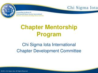 Chapter Mentorship Program
