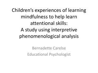 Bernadette Carelse Educational Psychologist