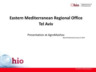 Eastern Mediterranean Regional Office  Tel Aviv Presentation at AgroMashov
