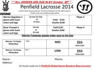 Penfield Lacrosse 2014